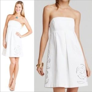 🌴Lilly Pulitzer white strapless dress. Size 5
